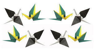 Origami Paper Cranes Royalty Free Stock Photos