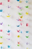 Origami paper cranes Royalty Free Stock Photography