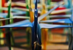 Origami paper cranes Stock Photo