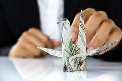 Origami paper cranes Stock Images