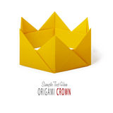 Origami paper crown Stock Photos
