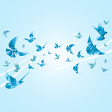 Origami paper doves. Vector abstract background Stock Image