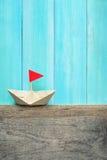 Origami paper fartyg Royaltyfri Bild