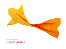 Origami paper fish Stock Photography
