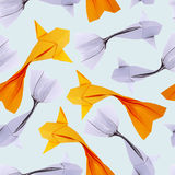 Origami paper fishs pattern Royalty Free Stock Photos