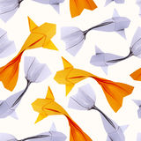 Origami paper fishs pattern Stock Photography
