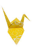 Origami Paper Folding Crane. Paper folding origami of a crane isolated on white background Royalty Free Stock Images