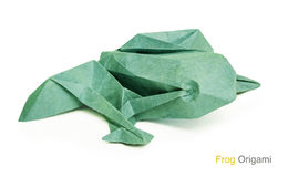 Origami paper frog Stock Photo