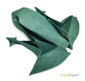 Origami paper frog Royalty Free Stock Photo
