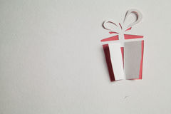 Origami paper gift box Stock Image