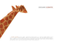 Origami paper giraffe Stock Photography