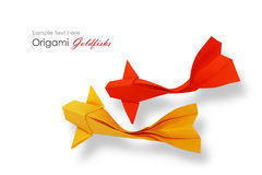 Origami paper goldfish couple Royalty Free Stock Images