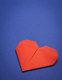 Origami paper heart Stock Photography