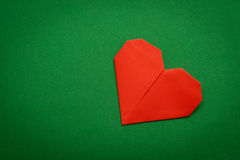 Origami paper heart Royalty Free Stock Image