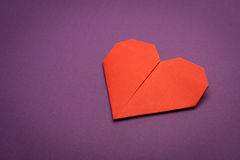 Origami paper heart Stock Image