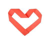 Origami paper heart shape Royalty Free Stock Photography