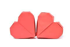 Origami paper heart Stock Images