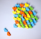 Origami paper hearts. Hand made origami paper hearts Royalty Free Stock Images