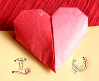 Origami paper hearts Royalty Free Stock Photos