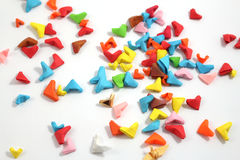Origami paper hearts Royalty Free Stock Image