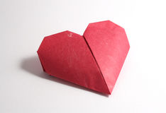 Origami paper hearts Stock Photography