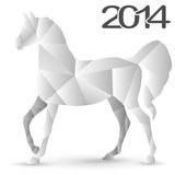 Origami Paper Horses Royalty Free Stock Photos