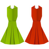 Origami paper ladies evening garments Stock Photos