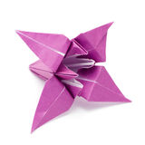 Origami paper lily Royalty Free Stock Photo