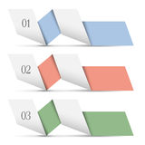 Origami paper numbered banners Royalty Free Stock Photos