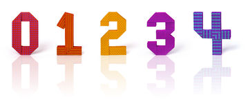 Origami paper numbers set Royalty Free Stock Image