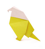 Origami paper parrot Stock Image
