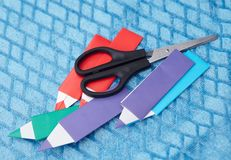 Origami paper pensil royalty free stock images