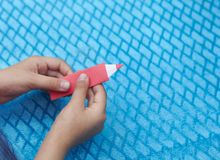 Origami paper pensil royalty free stock image