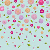 Origami paper pink rose pattern Royalty Free Stock Photo