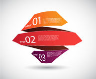 Origami paper with place for your own text. Stock Photography