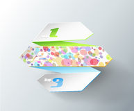 Origami paper with place for your own text. Stock Image