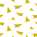 Origami paper plane seamless vector pattern. Stock Images