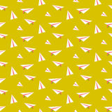Origami paper plane seamless vector pattern. Royalty Free Stock Photos