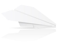 Origami paper plane vector illustration Stock Image
