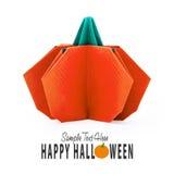 Origami paper pumpkin Royalty Free Stock Photos