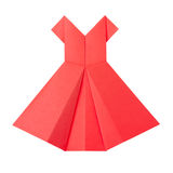 Origami paper red dress Royalty Free Stock Photo