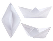 origami paper ship Royalty Free Stock Images