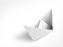 Origami paper ship Royalty Free Stock Photography