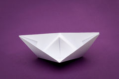 Origami paper ship Stock Photo