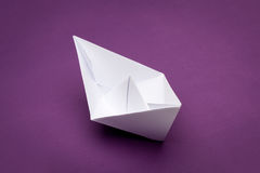 Origami paper ship Royalty Free Stock Image