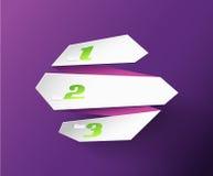 Origami paper stripes Stock Photo