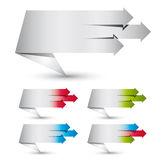 Origami paper style banners. Stock Image