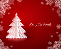 Origami paper vector Christmas tree Royalty Free Stock Photos