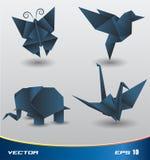 Origami paper vektor Arkivbilder
