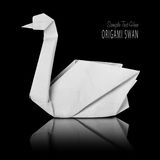 Origami paper white swan Royalty Free Stock Photography
